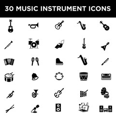 Music Instrument Icon Set