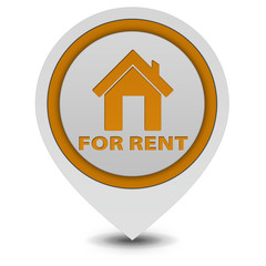 For rent pointer icon on white background