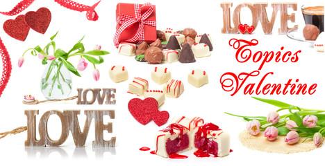 Valentinstag, Liebe, Blumen, Geschenk