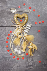 Valentines dinner table setting