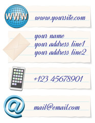 contact info template