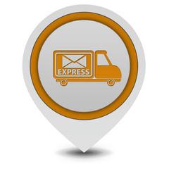 Express pointer icon on white background