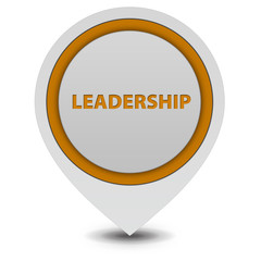 Leadership pointer icon on white background