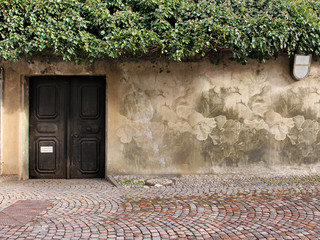 Muro esterno con disegno