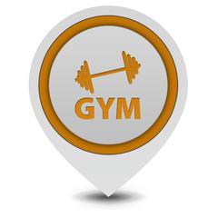 Gym  pointer icon on white background