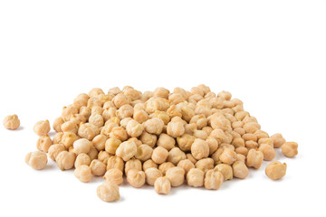 Chickpea isolated on white