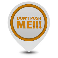Do not push me pointer icon on white background