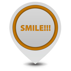 Smile pointer icon on white background