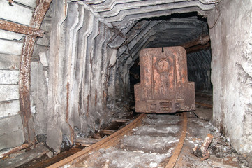 Tunnel to the dark from a coal mine