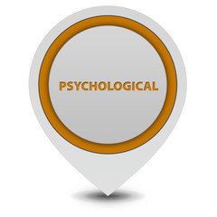Psychological pointer icon on white background