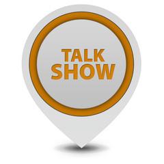 Talk Show pointer icon on white background