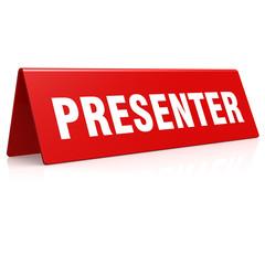 Presenter banner