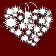 love heart flower shapes