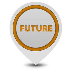 Future pointer icon on white background