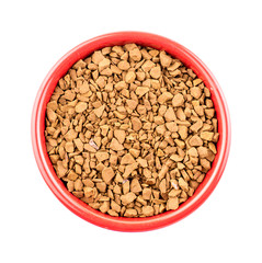 Bowl of instant coffee granules