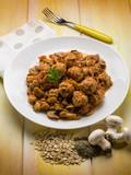 meatballs with sauteed mushroom