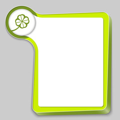green box for any text and cloverleaf