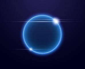 Esfera luminosa con brillos en fondo oscuro