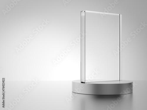 Leinwandbild Motiv Glass award with metal base