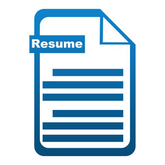 Resume Icon Blue