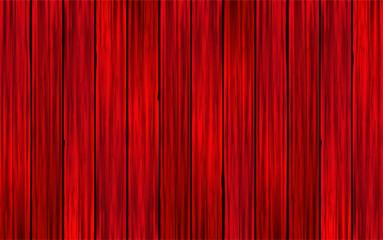 Fondo de madera realista roja. Textura de madera