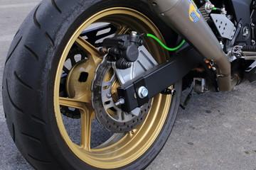 ruota particolare costruttivo di motocicletta sportiva