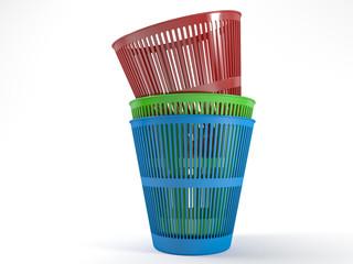 Pile waste bins