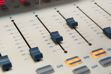 buttons equipment in audio recording