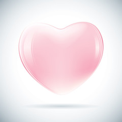pink valentine heart shape