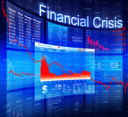 Financial Crisis Economic Stock Market Banking Concept
