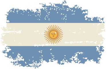 Argentine grunge flag. Vector illustration.