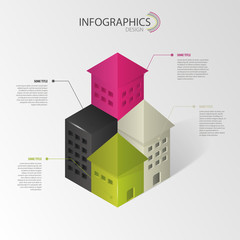Infographics. Abstract house. Vector illustration
