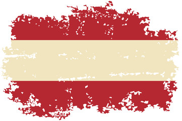 Austrian grunge flag. Vector illustration.