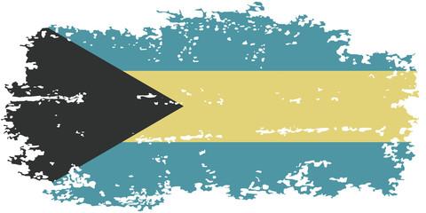 Bahamas grunge flag. Vector illustration.