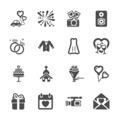wedding icon set 4, vector eps10