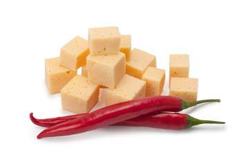 cheese and chili peppers