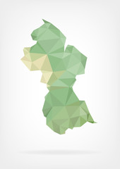 Low Poly map of Guyana