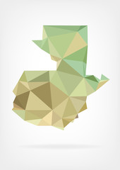 Low Poly map of Guatemala