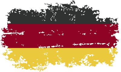 Germany grunge flag. Vector illustration.