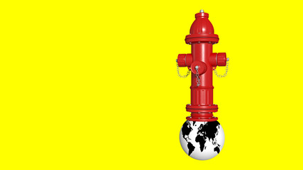 fire hydrant on the globe