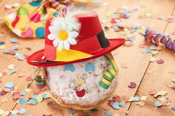 Krebbel mit Hut