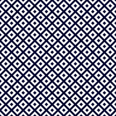 Navy Blue and White Diagonal Squares Tiles Pattern Repeat Backgr