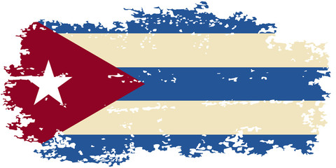 Cuban grunge flag. Vector illustration.
