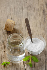 homemade mouthwash made from Peppermint and baking soda
