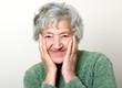 Happy senior portrait grandmother