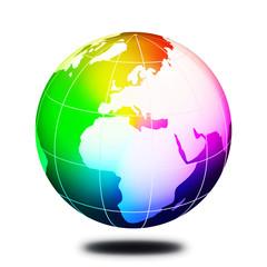 Rainbow colorful earth