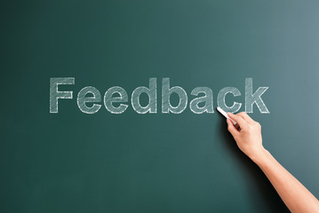 feedback written on blackboard