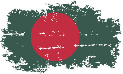 Bangladesh grunge flag. Vector illustration.