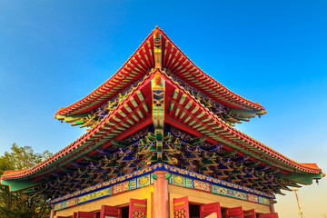 The Chinese temple roof