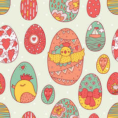 Happy Easter. Seamless pattern.